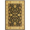 "Traditional Sultan Oriental Floral Black Area Rug (5'3"" X 7'3"")"
