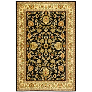 Traditional Sultan Oriental Floral Black Area Rug (5'3