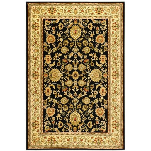 "Ottomanson Traditional Sultan Oriental Floral Black Area Rug (5'3"" X 7'3"")"