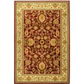 "Traditional Sultan Oriental Floral Burgundy Area Rug (5'3"" X 7'3"")"