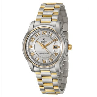 Bulova Men's Yellow Gold-plated Steel 'Precisionist' Watch