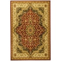 Sultan Oriental Medallion Burgundy Area Rug (5'3 x 7'3)
