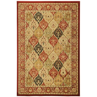 Traditional Yale Bakthiari Burgundy Area Rug (5'3 x 7'3)
