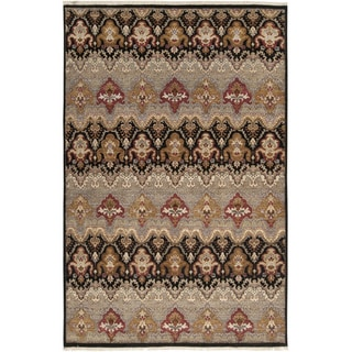 Hand-knotted Settat Grey New Zealand Wool Rug (5' 6 x 8' 6)