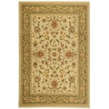 Traditional Yale Mahal Ivory Area Rug (5'3 x 7'3)