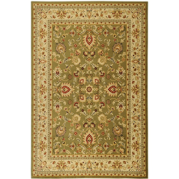 Traditional Yale Mahal Green Area Rug (5'3 x 7'3)