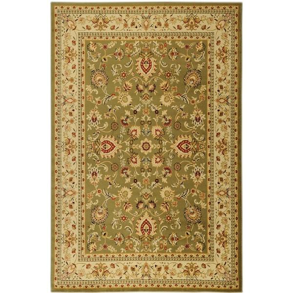 Ottomanson Traditional Yale Mahal Green Area Rug (5'3 x 7'3)