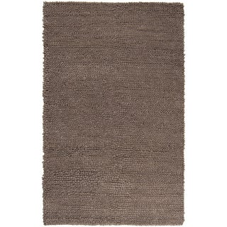 Handwoven Opel Tan Plush Shag New Zealand Felted Wool Rug (9' x 12')