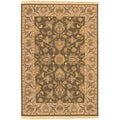 Hand-knotted Salevia Brown Semi-Worsted New Zealand Wool Rug (8' x 10')