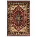 Hand-knotted Meknes Maroon Semi-Worsted New Zealand Wool Rug (2' x 3')