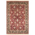 Hand-knotted Oujda Cherry Red Semi-Worsted New Zealand Wool Rug (2' x 3')