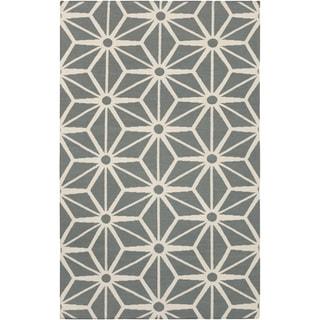 Handwoven Avelgem Pewter Wool Rug (2' x 3')