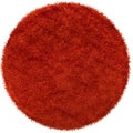 Handwoven Mohammedia Burnt Orange Soft Shag (10' Round)