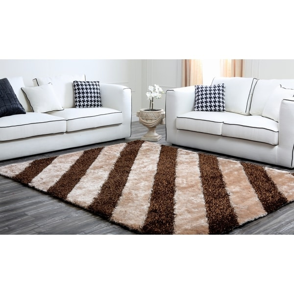 ABBYSON LIVING Plush Sienna Striped Rug