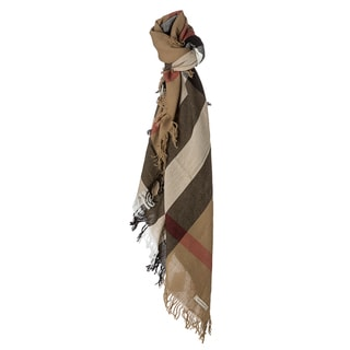Burberry House Check Wool Square Scarf
