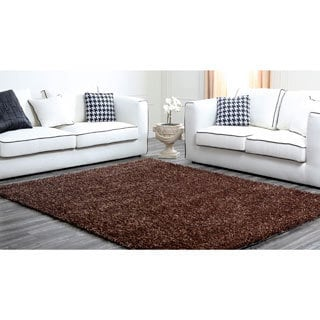 ABBYSON LIVING Two-tone Brown Plush Shag Rug