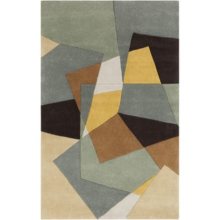 Hand-tufted Anzegem Dried Oregano Geometric Rug (9' x 13')