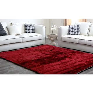 Abbyson Living Red Plush Shag Rug