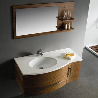 Vigo 44-inch Single Bathroom Vanity with Mirror and Shelves