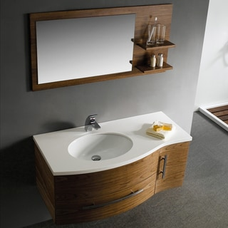 Vigo 44-inch Single Bathroom Vanity with Mirror and Shelves