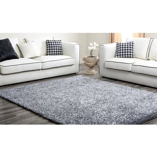 Abbyson Living Grey Plush Shag Rug