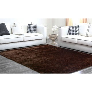 ABBYSON LIVING Multi-tone Brown Plush Shag Rug