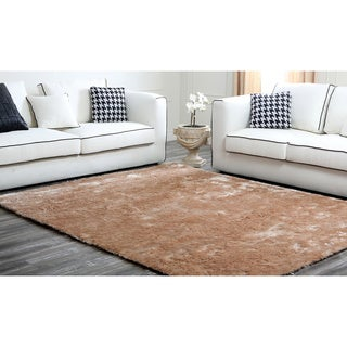 Abbyson Living Cream Plush Shag Rug