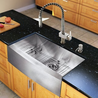 Vigo All-in-one Steel 33-inch Farmhouse Kitchen Sink and Faucet Set