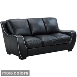 Contemporary Bonded Leather Sofa