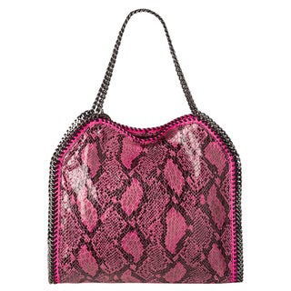 Stella McCartney 'Baby Bella' Fuchsia Faux Python Tote Bag