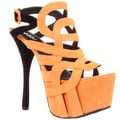 Fahrenheit Women&#39;s &#39;Jean-03&#39; Strappy Platform Sandals