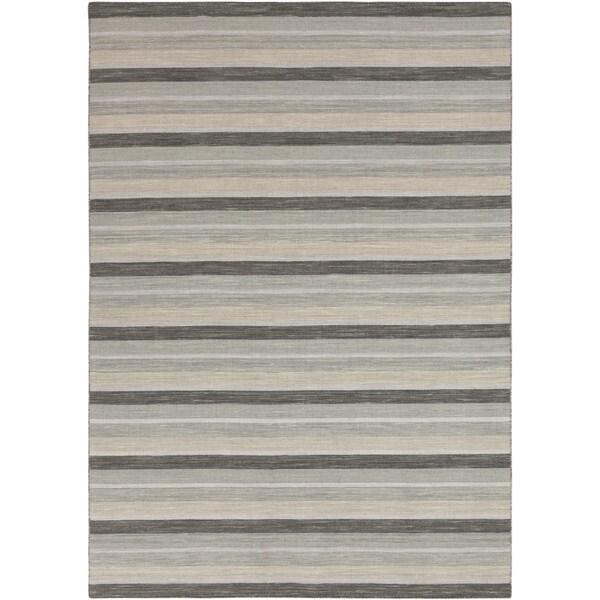 Hand-woven Nador Grey Wool Rug (8' x 11')