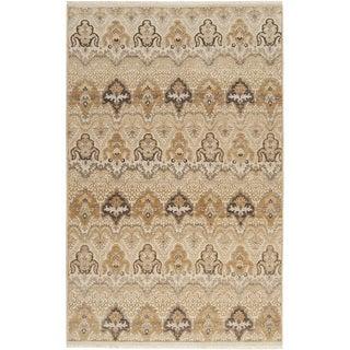 Hand-knotted Settat Beige New Zealand Wool Rug (5'6 x 8'6)