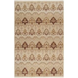 Hand-knotted Settat1 Desert Sand New Zealand Wool Rug (5'6 x 8'6)