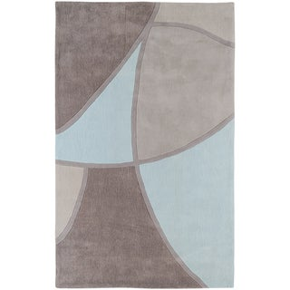 Hand-tufted Azrou Grey Geometric Rug (9' x 13')