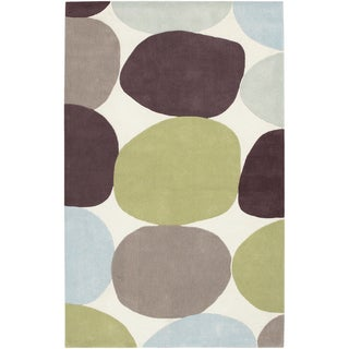 Hand-tufted Sidi Green Geometric Rug (9' x 13')