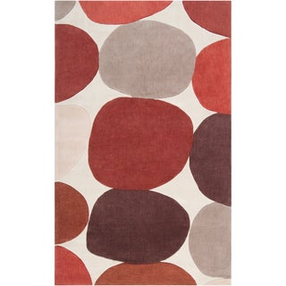 Hand-tufted Sidi1 Burnt Sienna Geometric Rug (9' x 13')