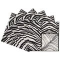 Rose Tree Black &amp; White Jungle Napkins (Set of 6)