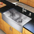 Vigo All-in-one 36-inch Farmhouse Stainless Steel Kitchen Sink and Faucet Set