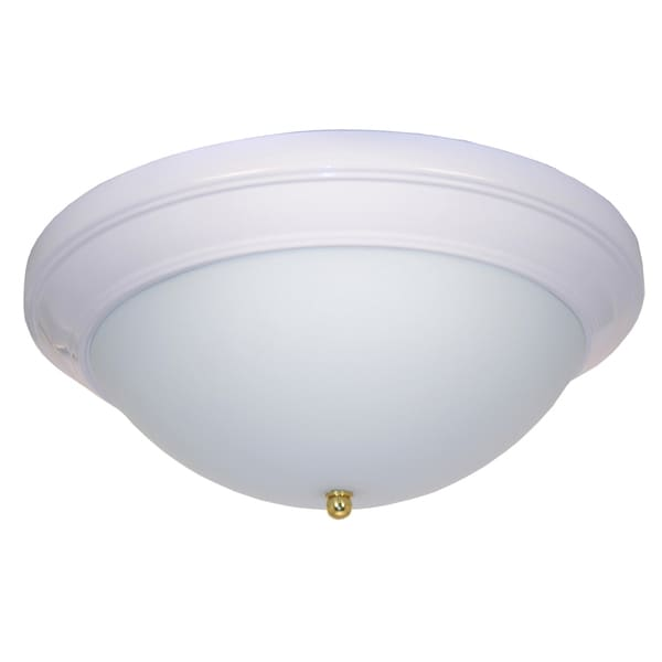 eLIGHT 14-inch White Alabaster Glass Ceiling Light