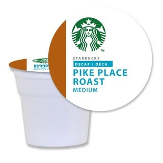 Starbucks Decaf Pike Place Roast Coffee K-Cups for Keurig Brewers (96 K-Cups)