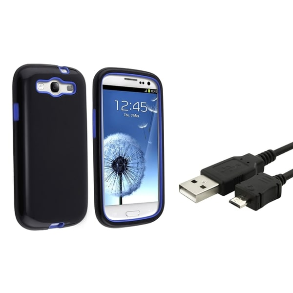 BasAcc Hybrid Case/ USB Cable for Samsung Galaxy S3/ SIII i9300
