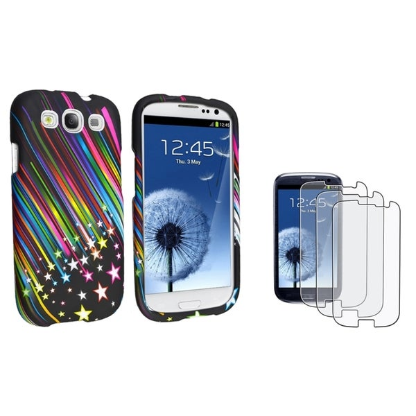 INSTEN Phone Case Cover/ Anti-glare LCD Protector for Samsung Galaxy S3/ SIII