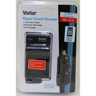Vivitar Rapid Travel Battery Charger for Canon LPE10