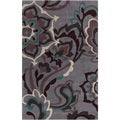 Hand-tufted Anderlues Dark Grey Floral Rug (8' x 11')