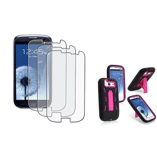BasAcc Hybrid Case/ Anti-Glare Protector for Samsung Galaxy S III/ S3