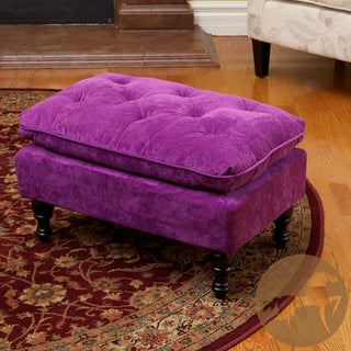 Christopher Knight Home Jeremy Purple Tufted Ottoman