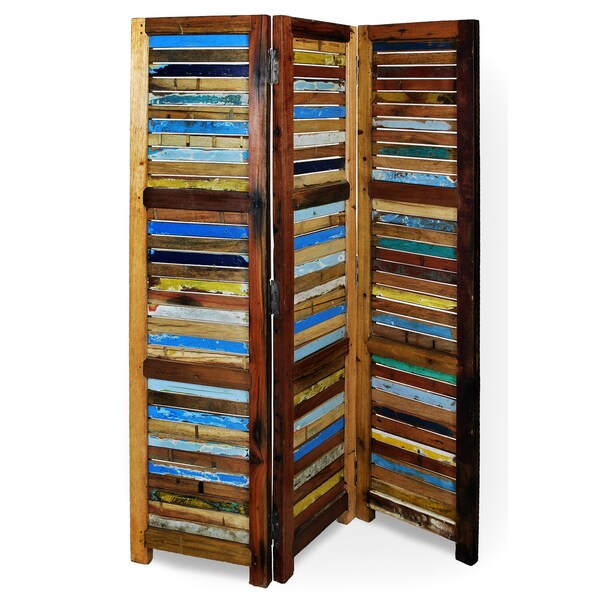 Ecologica Reclaimed Wood 3-Panel Decorative Screen