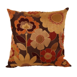 Acadia Modern Autumn Floral 25-inch Floor Pillow