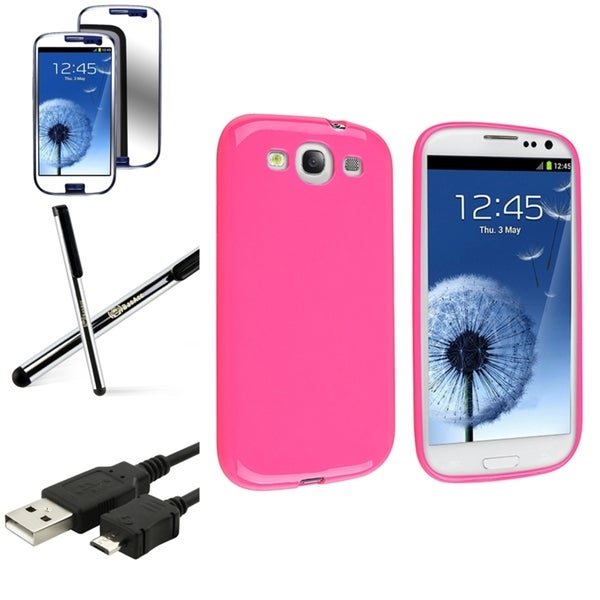 INSTEN Phone Case Cover/ Screen Protector/ Cable/ Stylus for Samsung Galaxy S3